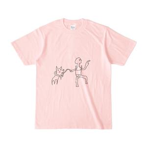 お散歩Tシャツ(ライトピンク・背景なし)