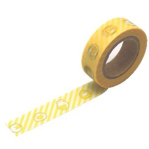 マスキングテープ ふにゃストライプ(黄)