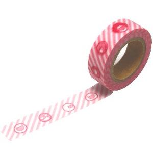 マスキングテープ ふにゃストライプ(ピンク)