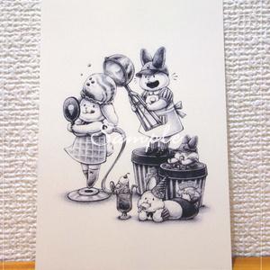 ポストカード「アイスクリームのおしゃれ屋さん」