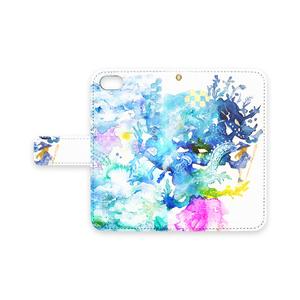 魔女と樹龍 手帳型iPhoneケース