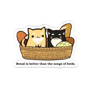 しばいぬとパンのアクリルバッジ