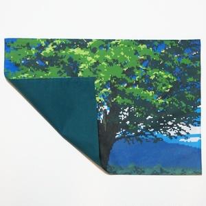 送料込!樹木(昼)のランチョンマット・ドット絵