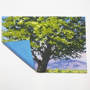 送料込!樹木(夕)のランチョンマット・ドット絵
