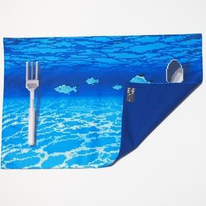送料込!海底のランチョンマット・ドット絵