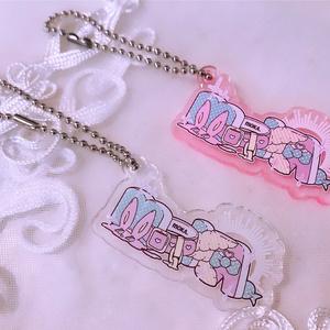 アクリルキーホルダー【ピンク】