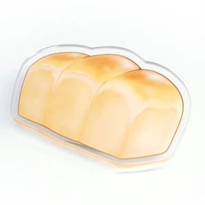 食パン アクリルバッジクリップ