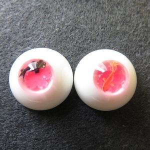 16mmレジンアイ(遊泳金魚 桜)
