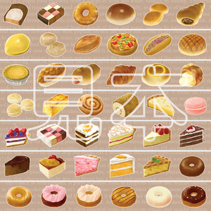 パン&ケーキマスキングテープ
