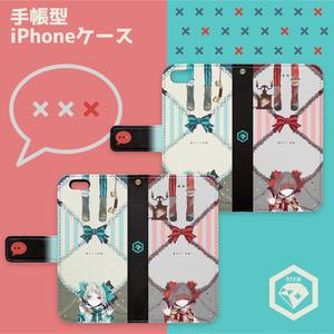 【515M】 Rotary dial 手帳型iPhoneケース(サイズ 6 / 7 )