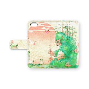『朱鷺図』iPhone 手帳型ケース 5/6/6Plus