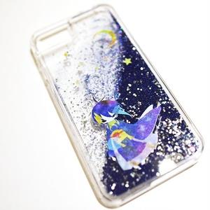 天の川と三日月のiPhoneケース