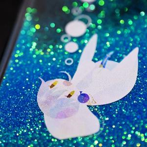 溺れ鶴丸グリッターiPhoneケース