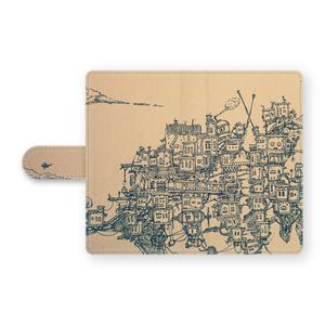 街旅[穴なし-Android手帳型カバー S・M・L]