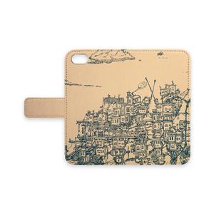 街旅 [穴なし-iPhone6~8手帳型カバー]