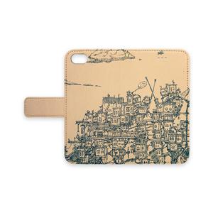 【iPhone7・8/Plus手帳型カバー ストラップ穴あり】街旅
