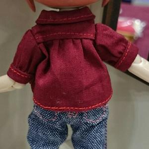 【オビツ11】チャイナ風半袖ブラウス