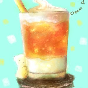 【C90 夏コミ新作ポストカード】 夏の飲み物シリーズ 2枚セット