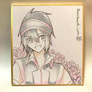 ミニ色紙(ユキサ)