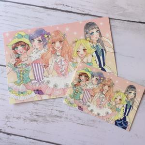 キラキラICカードステッカー(ポストカード付)