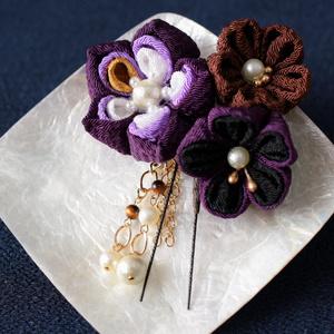 【刀剣乱舞/へし切長谷部イメージ 】かんざし風*和花の髪飾り016