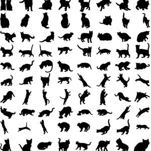 ドッグ&キャットシルエット素材集 340種類以上収録