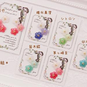 【A3!/エースリー】キャライメージお花のピアス・イヤーカフ(春組・夏組)