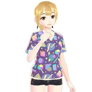 【 VRoid用テクスチャ 】3 Tシャツ / Set || VRoid T-Shirt V Neck || Texture VRoid Clothes Outfit Shirt