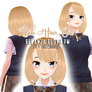 Hair 【Vroid】ヘアプリセット || VRoid Bob Hair Cut with Side Bang