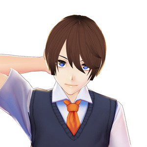 Hair 【Vroid】ヘアプリセット || 男性 VRoid Hair for Guy Front Straight Cut  ヘア