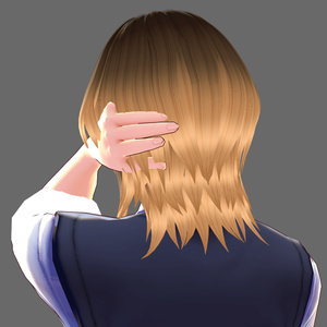 Hair 【Vroid】ヘアプリセット ||  VRoid Hair Wolf Cutヘア
