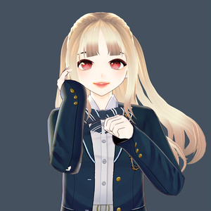 Hair 【Vroid】ヘアプリセット ||  VRoid Long Hair with Twintail ヘア