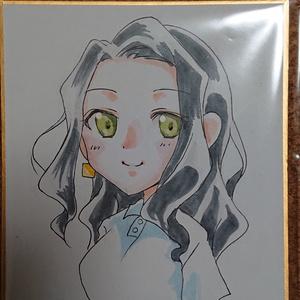 ミニ色紙原画 泉若葉ちゃんプロトタイプ