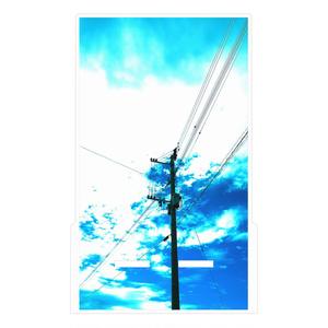 スマホスタンド 青空と電柱