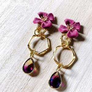 アクセサリー 華シリーズ 赤紫
