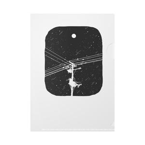A5クリアファイル 月と電柱