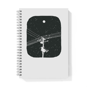 A5リングノート 月と電柱