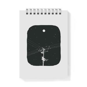 メモ帳 月と電柱