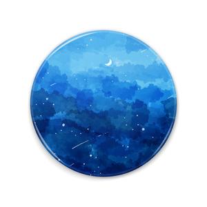 缶ミラー 青い夜