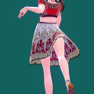 Vroid専用民族衣装風ドレステクスチャ