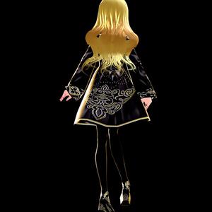 Vroid専用星の魔女ドレステクスチャ