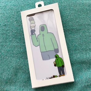 iPhone6ケース 「無表情でアイスこぼしマン」