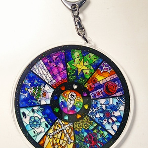 Undertaleステンドグラス風アクキー(Stained glass acrylic keychain)