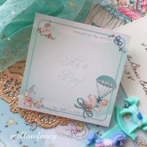 【 It's a Boy 】スクエアメモ帳