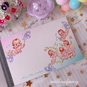 【 Mermaid Babies 】クロス巻きメモ帳