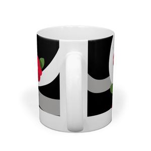 【マグカップ】椿とアオダイショウ