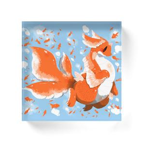 【アクリルブロック】金魚ドラゴン