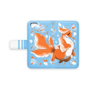 【手帳型iPhoneケース】金魚ドラゴン