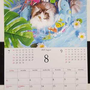 【壁掛けタイプ】2019年 あいろん&はがね先生オリジナルカレンダー