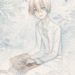 【創作】ATC原画 a (あお展)